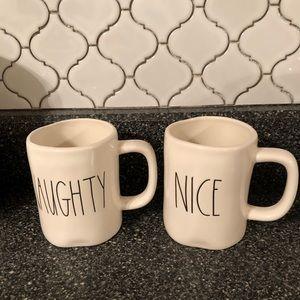 Rae Dunn NAUGHTY and NICE mug set!